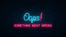 Neon Sign Of 404 Error Page Wi...