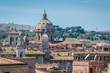 The roofs of Rome, panoramic view from the Vittorio Emanuele II Monument in Rome, Italy.