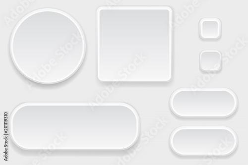 Fotografía  White blank buttons. Set of interface elements