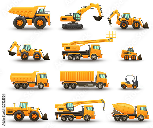 Construction machinery set Wall mural