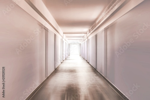 Fotografie, Tablou  Corridor with motion blur