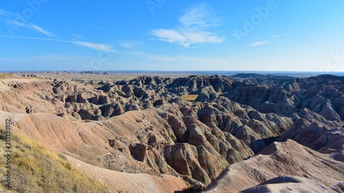Deurstickers Zalm Geology and natural wonders of Badlands National Park, South Dakota
