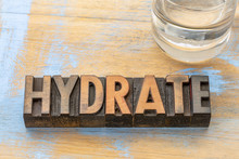 Hydrate Word Abstract In Wood ...