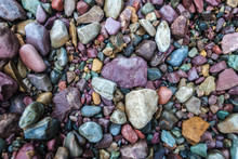 Colorful Pebbles From Lake McDonald, Glacier National Park, Montana