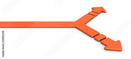 Fototapeta  分岐点を表すアブストラクト3DCGイラスト