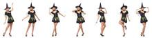 Beautiful Witch In Black Dress...