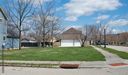 Vacant Urban Neighborhood Corner Lot
