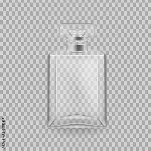 Fototapeta Realistic mock-up, template of flacon spray for freshness. obraz