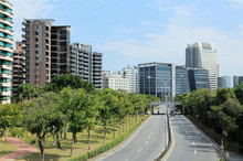 The Road To Commercial Area & Science-based Industrial Park In Taipei City ~ Vista Of A Street In Neihu District, Taipei City, Taiwan