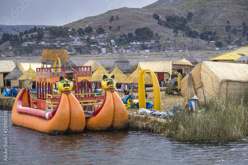 Foto op Canvas Zuid-Amerika land Uros floating island, lake Titicaca, Peru