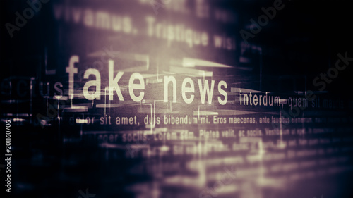 Fototapeta Fake news background