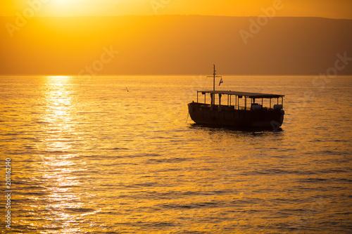Canvas-taulu Beautiful Sea of Galilee in the morning