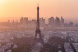 Fototapeta Paryż - Paris Eiffel Tower Sunset