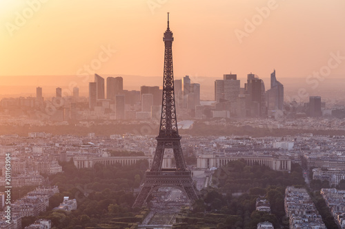 Photo sur Toile Europe Centrale Paris Eiffel Tower Sunset