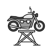 Motorbike Jack Color Icon