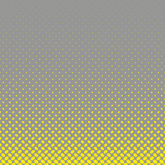 FototapetaGeometrical halftone ellipse pattern background - vector graphic from yellow diagonal elliptical dots on grey background