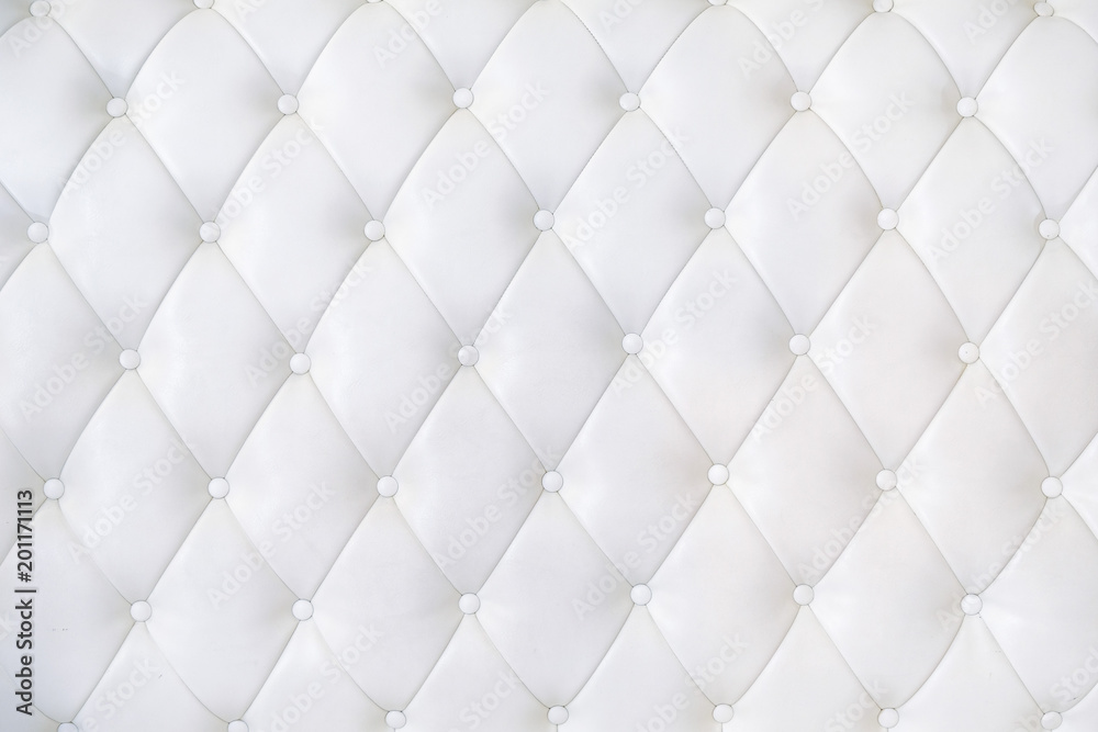 Leather Upholstery Sofa Background. White Luxury Decoration Sofa.