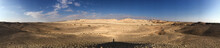 Arava Desert In Panoramic View