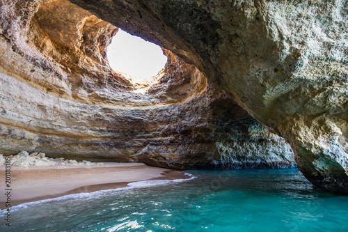 Paradise cave near beach of Benagil, Portugal