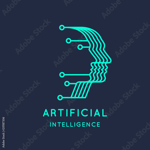 Photo Neural networks, conceptual sign and logo. The analytical system.