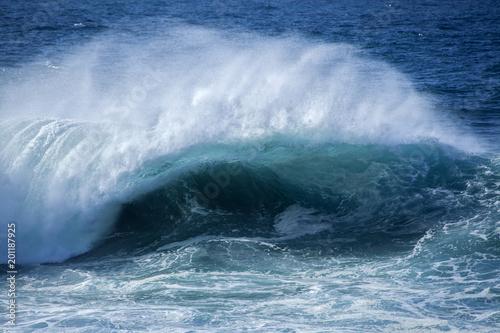 Stickers pour porte Eau ocean waves breaking