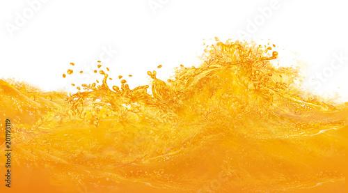 Fotografie, Obraz  Giclée de jus d'orange-splach-mango-abricot-vague-fraîche