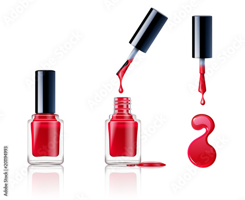 Canvas Print Nail Polish Set