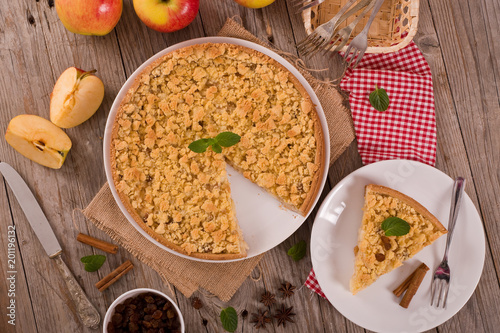 Papiers peints Jardin Crumble apple cake.