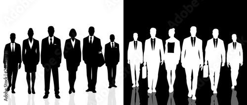 Fotografía  Two business people teams