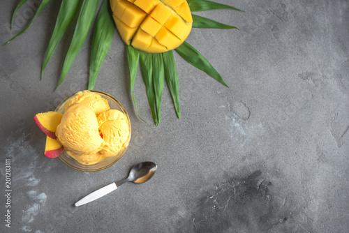 Fototapeta Mango Ice Cream obraz na płótnie