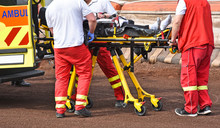 Ambulance Stuff  With A Stretc...