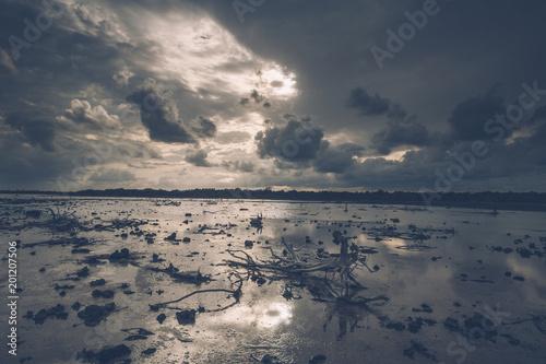Cuba, Bahia de Malagueta, Low tide at the beach