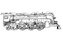 Silhouette Retro Steam Engine ...