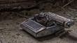 Vergessene Schreibmaschine