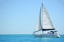 Sailboat On The Ocean Gulf Of ...