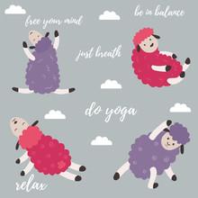 Cute Cartoon Sheep Doing Some ...