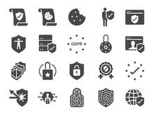 Privacy Policy Icon Set. Inclu...