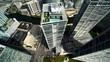 Downtown Miami Buildings by Aerial Drone