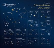Zodiac Constellations Set. 13 ...