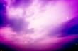 Leinwandbild Motiv colorful night sky