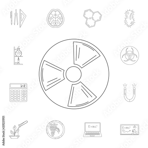 Radiation Icon Detailed Set Of Science And Lab Illustrations