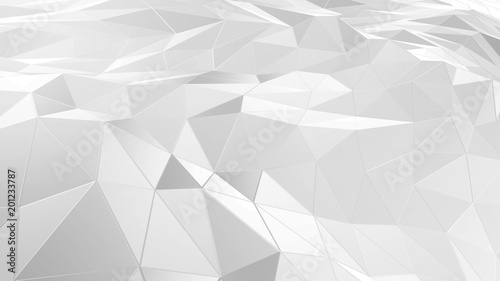 3D rendering abstract polygonal space low poly with connecting surface. Futuristic HUD background - 201233787