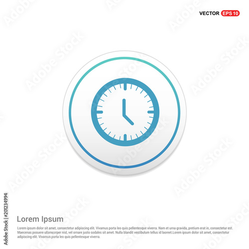 Time Clock Icon Hexa White Background Template
