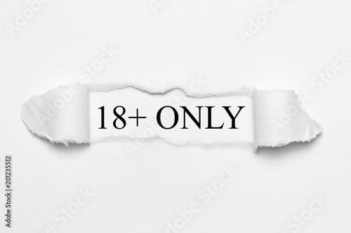 Obraz 18+ Only - fototapety do salonu