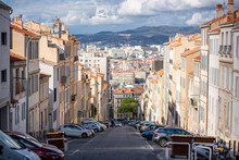 Sloping Street In Marseille