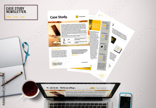 newsletter layout with black and yellow accents buy this stock