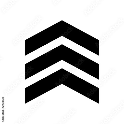 Photo chevron vector icon on white background