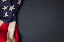 Vintage American Flag Borderin...