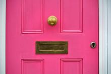 Detail Of Pink Door With Lette...