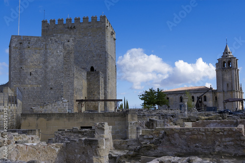 Foto op Canvas Oude gebouw Fortaleza de la Mota